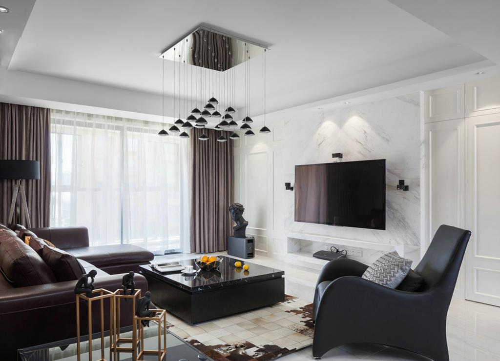 本案設計為現代簡約風格,黑白灰色調。本案在平面布局上做了很大調整, 強調空間的自然融合。客廳空間講究精巧豐富,開敞式書吧讓空間更加豐富多彩。主臥功能配置更加完備,,讓主人 享有更多浪漫的私人空間。通透寬闊的主衛、超大的衣帽間,提升了居住品質。  亞星盛世雅居三室兩廳簡約風格裝修案例  亞星盛世雅居三室兩廳簡約風格裝修案例  亞星盛世雅居三室兩廳簡約風格裝修案例  亞星盛世雅居三室兩廳簡約風格裝修案例  亞星盛世雅居三室兩廳簡約風格裝修案例  亞星盛世雅居三室兩廳簡約風格裝修案例  亞星盛世雅居三室兩廳簡約